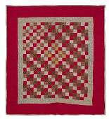 147 Pennsylvania pieced postage stamp crib quilt ca