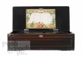 5: Swiss cylinder music box, late 19th c., with a ro