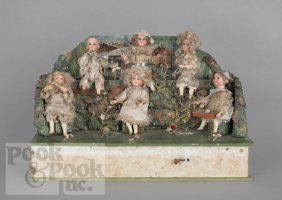 Wind-up Automaton Musical Doll Band, Late 19th C.