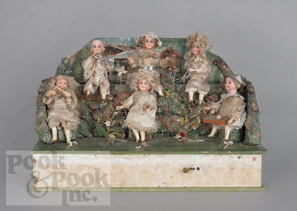 7: Wind-up automaton musical doll band, late 19th c.