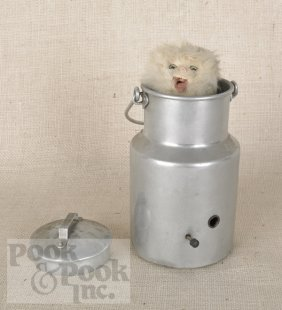 11: Cat in a milk pail musical automaton, late 19th c