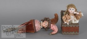 14: Musical twirling doll toy, late 19th c., together