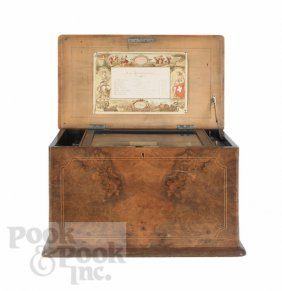 Paillard, New York Flute Voix Music Box, 19th C.,