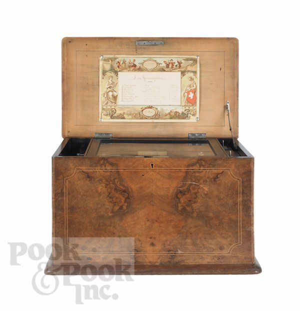 19: Paillard, New York Flute Voix music box, 19th c.,