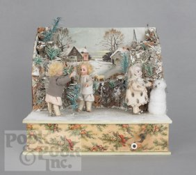 20: German musical automaton, ca. 1900, of a winter s
