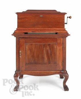 24: Empress Parlor Grand mahogany music box, ca. 1900