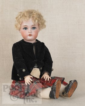 255: Simon and Halbig bisque head doll, 18'' h.