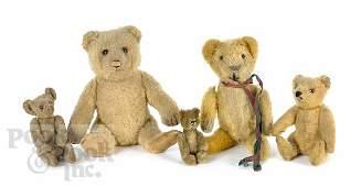565: Three Steiff mohair teddy bears, early 19th c., t