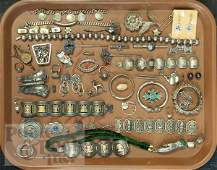 609: Group of sterling and other silver jewelry, to in