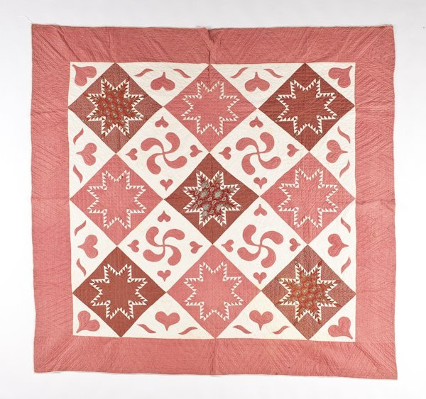 11: Pennsylvania pieced and appliqué quilt, late 19t