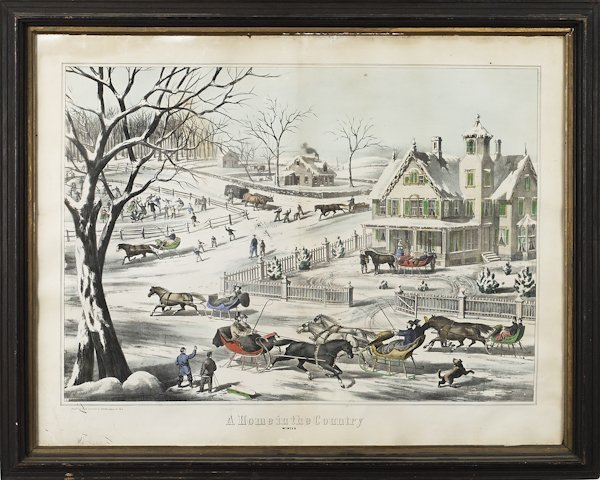 R. S. Spence color lithograph, titled A Home in