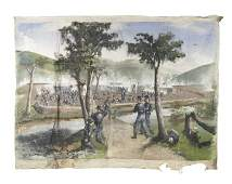 Set of four monumental oil on canvas Civil War sc