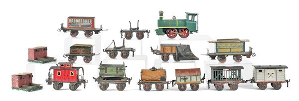 Marklin tin plate train set, together with a Karl