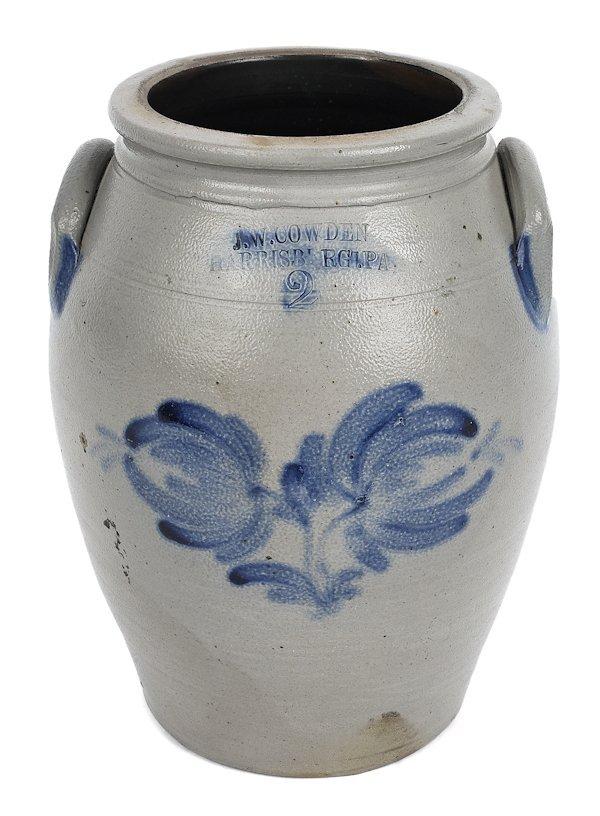 Pennsylvania two-gallon stoneware crock, 19th c.