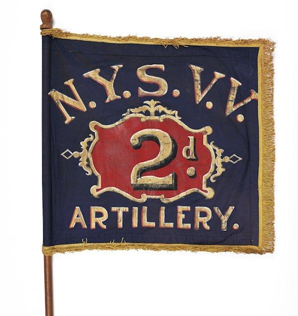 New York Civil War 2nd regiment artillery flank