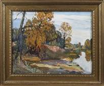 Walter Emerson Baum (American 1884-1956), oil o