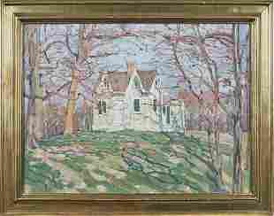 Jane Peterson (American 1876-1965), watercolor