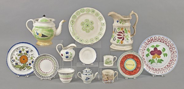 English ceramics, 19th c., to include spatter, Le