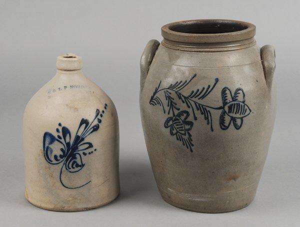 Stoneware jug, 19th c., impressed E & LP Norton