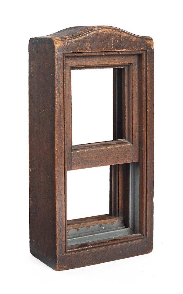 Walnut salesman sample of a double hung window, 1