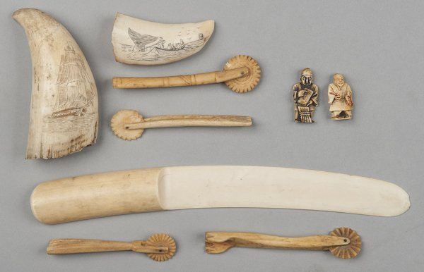 Collection of carved bone and ivory, to include t