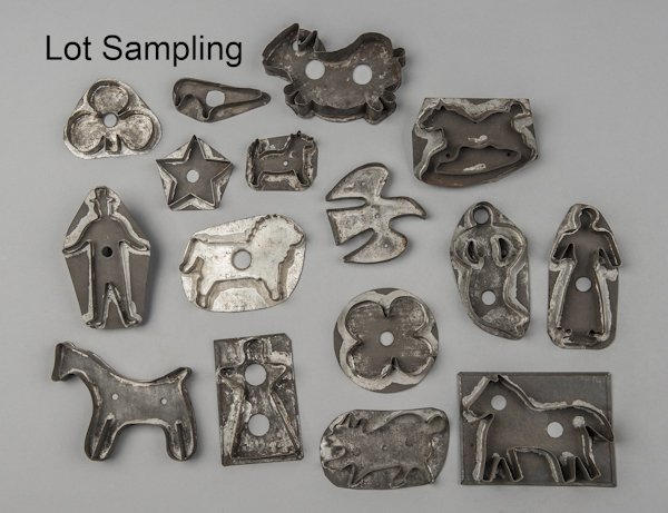 Collection of tin cookie cutters, 19th c., to inc