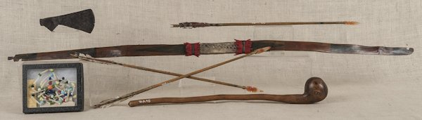 Group of Native American items, to include three