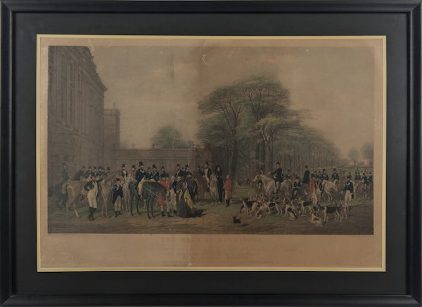 Fox hunting print, after William and Henry Barrau