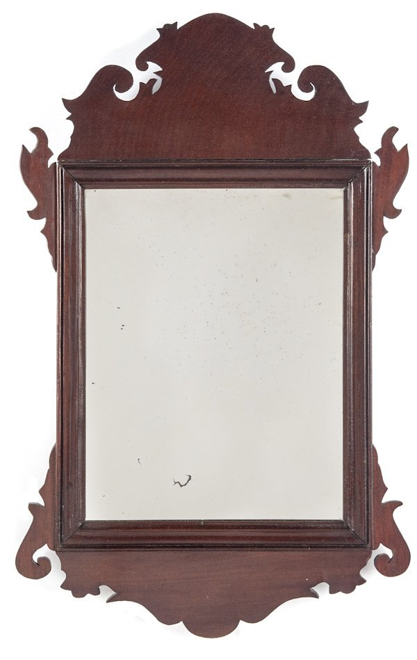 Chippendale mahogany looking glass, ca. 1800, 22