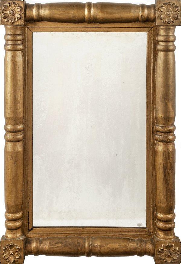 Sheraton giltwood mirror, ca. 1830, 36'' x 23 3/4''