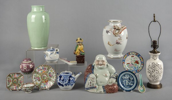Collection of Chinese and Japanese porcelain.