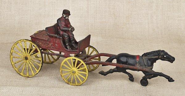 Hubley cast iron Fire Chief horse drawn wagon,