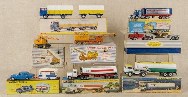 Five Dinky Supertoys die cast vehicles in origina