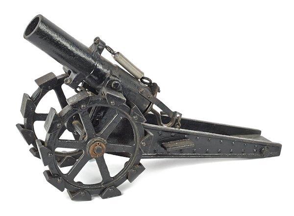 Cast iron cannon, 14 1/2'' l.