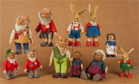 Collection of Steiff plush animals, to include fo