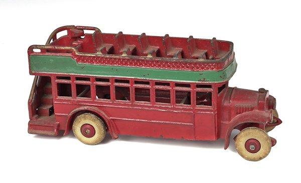 Kenton cast iron double decker bus, 10'' l.