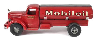 Smith Miller pressed steel Mobiloil gasoline tr