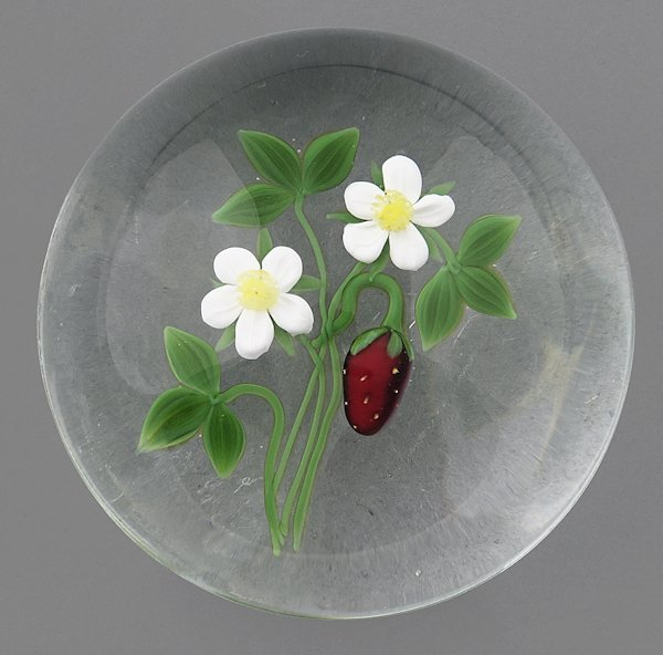 Victor Trabucco paperweight with a strawberry and
