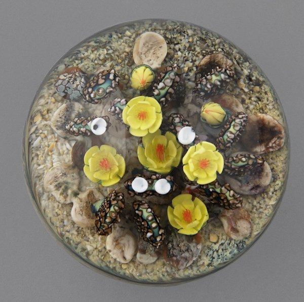 Cathy Richardson yellow cactus paperweight, signe