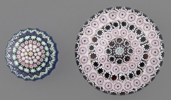Perthshire concentric millefiori paperweight with