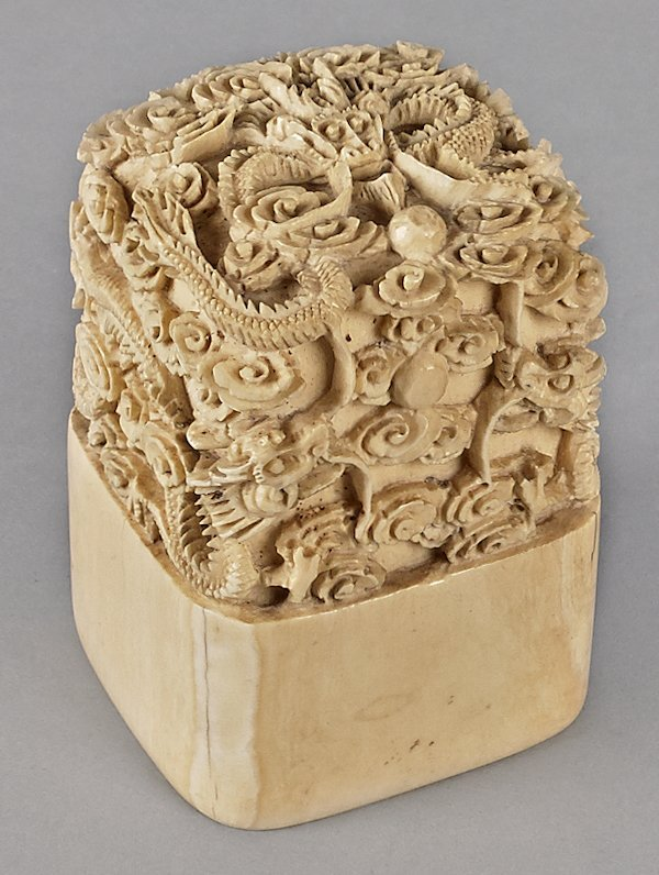 Chinese carved ivory chop, 3 1/4'' l.