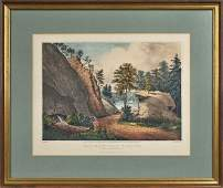 Currier and Ives color lithograph titled The Mo