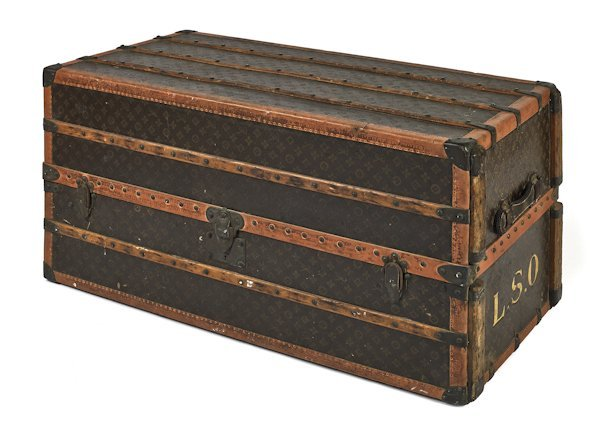 Louis Vuitton steamer trunk, 22 1/4'' h., 43'' 1/2''