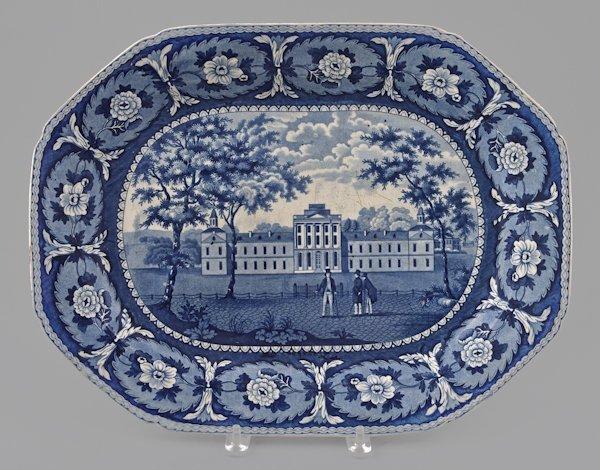 Historical blue Staffordshire Pennsylvania Hospi