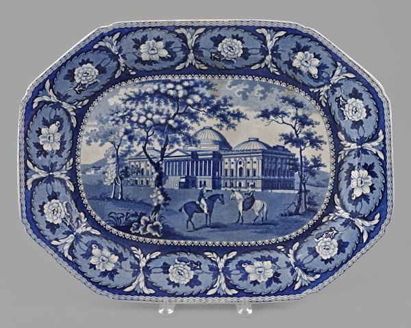 Historical blue Staffordshire Capitol Washington
