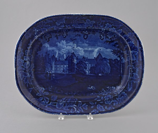 Historical blue Staffordshire Southwest View of