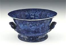 Historical blue Staffordshire Vue D'une Ancienne