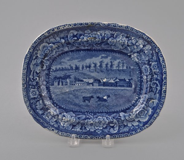 Historical blue Staffordshire Chillicothe, Ohio