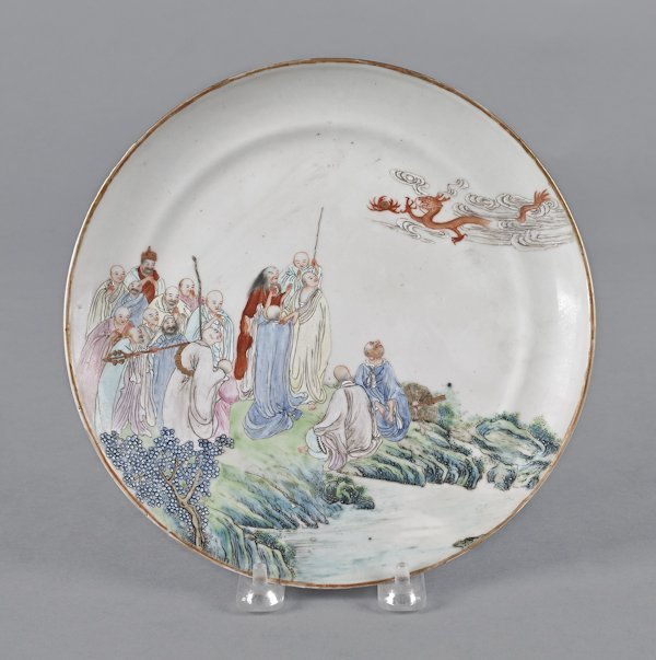 Chinese export porcelain plate, 18th c., depict