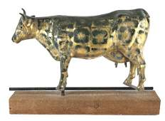 Large full bodied copper cow weathervane, probab